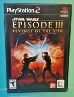 Star Wars III Sith  PS2 Playstation 2 COMPLETE Game 1 Owner FLAWLESS Mint Disc