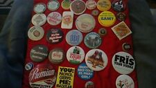 Vtg 32 lot BEER Cap Budweiser Cuervo Vodka stag Coors ADVERTISING PINBACK BUTTON