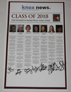 2018 Women's Basketball Hall Of Fame Induction signed Poster Holdsclaw Thompson