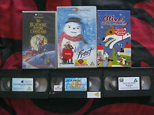 3 x  FAMILY SELECTION CHRISTMAS VHS VIDEOS.