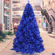 Blue Artificial Christmas Tree Brooch lots Undecorated Xmas Tree 2 3 4 5 6 7 8FT