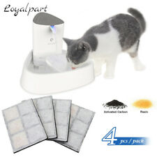 1.8L Automatic Electric Pet Dog Cat Water Fountain Drinking Bowl + 4Pcs Filter