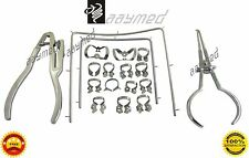 Rubber Dam Starter Kit of 18 Pcs with Frame Punch Clamps Dental Instruments AY 2