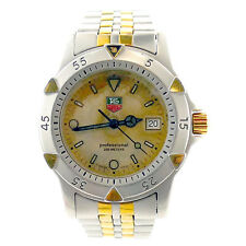 TAG HEUER 1500 SERIES 955.713K-2O PROF GOLD DIAL 2-TONE GOLD + S.S. WATCH