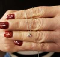 0.20 Carat Round Cut Diamond Three Stone Pendant Necklace 14k White Gold Finish