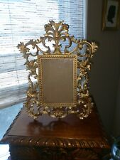 Picture Frame -Metal, Victorian Ornate Refinished, Perfect Condition 12 x 9.5
