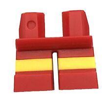 LEGO NEW SHORT RED MINIFIGURE LEGS YELLOW LINE STRIPE BOY KIDS PANTS PIECE