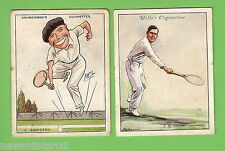 #D183. Two Large 1930s Tennis Cigarette Cards, J. Borotra & I.G. Collins