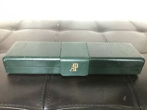 AP Audemars Piguet Vintage Watch Coffin Box Case, Green Leather/Suede