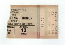 tina turner ticket stub springfield civic center apr. 13, 1973