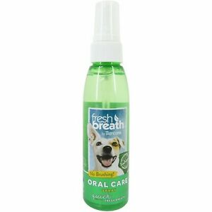 TropiClean Fresh Breath Oral Care Spray for Dogs, with Peanut Butter Flavouring