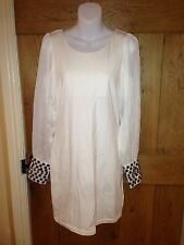 AX White Cocktail/wedding Dress Sheer Sleeves Size 12 BNWT