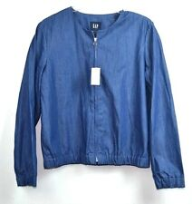 GAP BLUE DENIM  100% COTTON WOMEN'S BLOUSE JACKET SIZE L INDONESIA
