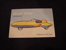 VINTAGE 1953 Topps World on Wheels #46 Belly Tank 3-Wheeler Hot Rod Card, NICE!