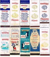 Lot of Ten 1950-1970s Hamm'S Beer Bear Matchcovers TavernTrove