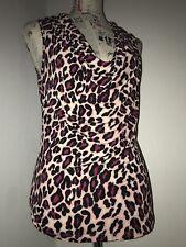 INC International Concepts Large Pink Cheetah- Print Nylon Pullover Blouse🖤