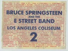 1985 BRUCE SPRINGSTEEN & E Street Band Backstage Pass - Los Angeles Ca Coliseum