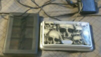 nintendo ds w 5 games, game carry case, charger and stylus