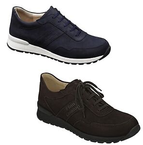 FINN COMFORT SHOES PREZZO TORF MARINE LEATHER MEN'S LACE UP MAN TOP QUALITY