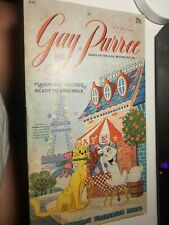1962 Gay Purr-ee Golden Funtime Punch-out Books