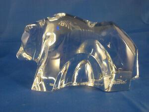 BACCARAT France Kristall Glas BÄR 12cm signiert mit Gravur vintage