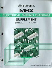 1991 TOYOTA MR2 SW20 SERIE ELECTRICAL WIRING DIAGRAM SUPPLEMENT EWD149F