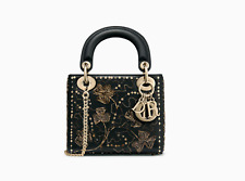 Christian dior  MINI LADY DIOR BAG IN EMBROIDERED CALFSKIN  2018 / 2019