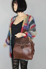 DEY 70er 70s Vintage VTG LEDER Tasche MESSENGER Leather BAG Satchel Henkeltasche
