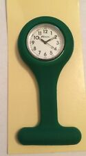 Ravel Ladies Gents  Green Silicone Removable Case Pin Fob Watch  1103.11