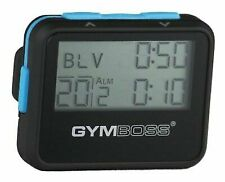 Gymboss Interval Timer and Stopwatch - Black / Blue SOFTCOAT 2day Ship