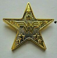 Wonder Woman Star With Logo in Center Metal Pin - DC Comics, New