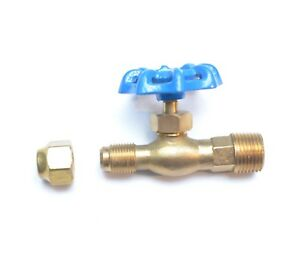 3/8 Sae 45 Flare X 1/2 Male Npt Fuel Oil Tank Utility Valve with Nut