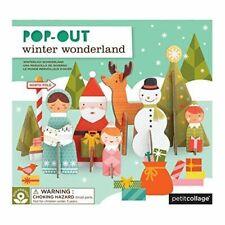 Petit Collage Pop-out Winter Wonderland - Pop out 3D puzzle for children