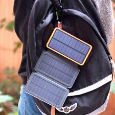 Waterproof 300000mAh Solar Panel External Battery Charger Power Bank For Phone