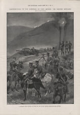 OLD 1905 PRINT JAPANESE FIELD BATTERY ON HEIGHTS ENCIRCLING PORT ARTHUR b8