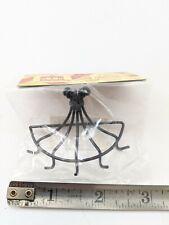 NICE 1:12 Dollhouse Miniature Black Metal Wall Mount Pot Hanging Rack #S8364