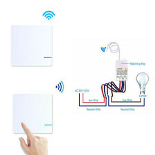 Wireless Wall Light Switch Smart Home Lamp Bulb Remote Receiver Transmitter Kit