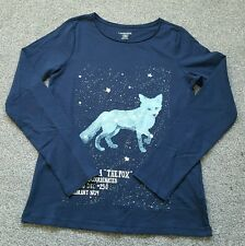 Lands' End Girls FABULOUS STELLAR FOX GRAPHIC Top. size 10-12 years. New BODEN