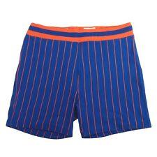 Sand-Knit Shorts Blue / Orange Pin Stripes Size XL 38-40