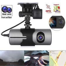 """R300 2.7"""" GPS Logger Dual Lens Camera Car DVR G-sensor Dash CAM video recorder"""