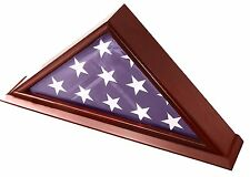 DECOMIL - 5x9 Burial/Funeral/Veteran Flag Elegant Display Case with Base