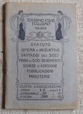 Touring Club Italiano - Statuto, opera e iniziative vantaggi dei soci
