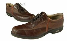 New listing Ecco HydroMax Hybrid Mens Leather Spikeless Golf Cleats Shoes Brown EU 44 US 10