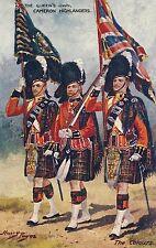 POSTCARD    MILITARY   Cameron  Highlanders    Payne        TUCK