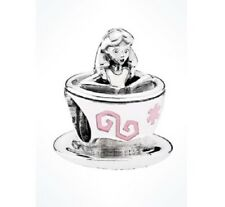 Authentic Pandora Bead Disney Parks Alice in Wonderland Teacup Fantasyland Charm