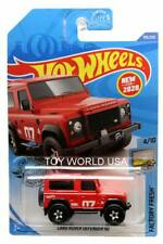 2020 Hot Wheels #199 Factory Fresh Land Rover Defender 90 red