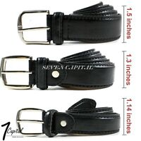 Men's Dress Causal Strap Jeans Buckle Genuine Leather Belts Black M L XL 32-42