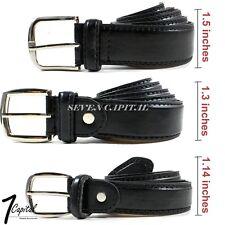 Men's Dress Causal Strap Jeans Buckle Genuine Leather Belts Black M L XL 32-42