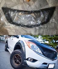 Matte Black Plastic ABS Net Front Grill Grille For Mazda Bt50 BT-50 Pro 2012-15