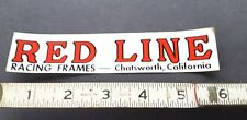 Vintage 70s RED LINE  BMX sticker clear